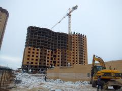 Строительство башенными кранами Potain MC235B в поселке Пироговский