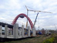 Живописный мост, строительство спортивных объектов, Potain IGO 36