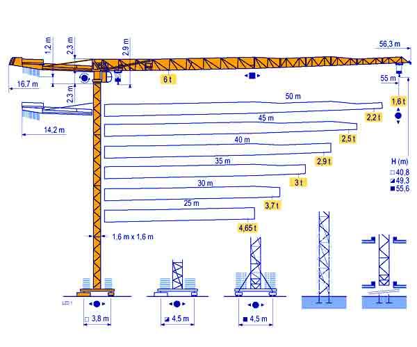 Башенный кран MDT128